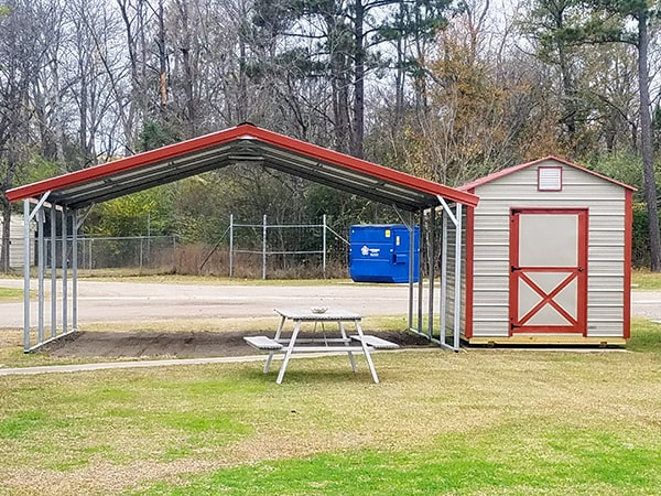 Premium Plus Spots with Carport and Shed
